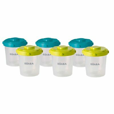 Beaba Six Piece Clip Lock Baby Weaning Food Storage Container Set 200 ml 912482