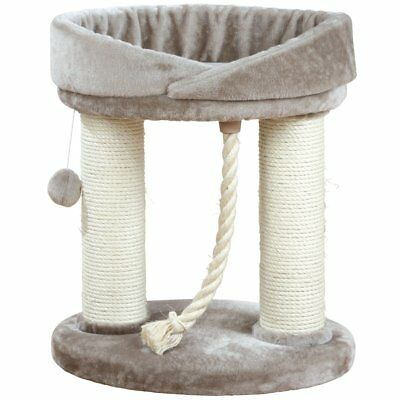 TRIXIE Wooden Scratching Post Kitten Cat Pet Toy Game 60 cm Grey Marcela 47062