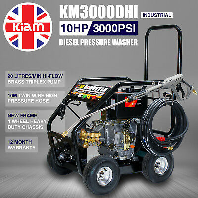 £11/WEEK on LEASE Kiam Diesel Pressure Jet Washer KM3000DHI - Hiflow Version