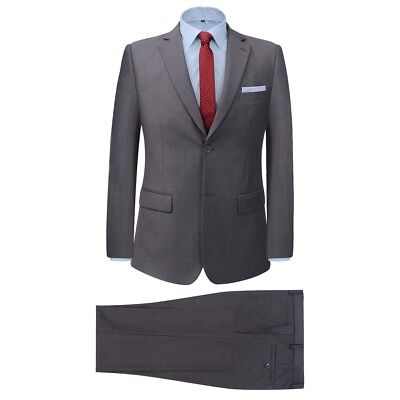 Men's Two Piece Formal Dinner Wedding Business Suit Jacket/Trousers Grey Size 50