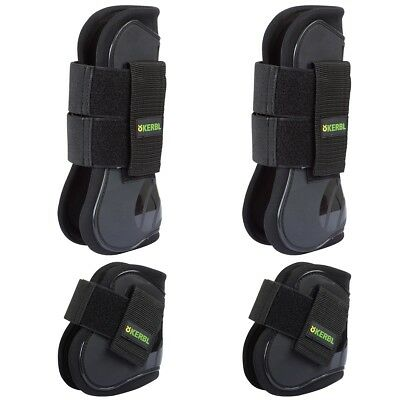 Kerbl 4 Piece Tendon and Fetlock Boot Set Shock Absorb Jumping Protection 321279