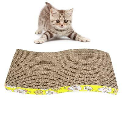 Tough Corrugated Board Kitten Cat Scratcher Board Scratching Pad Mat Catnip