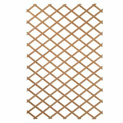 Nature Garden Trellis Expanding Fence Panel Decor 100x200cm Wood Natural 6041703