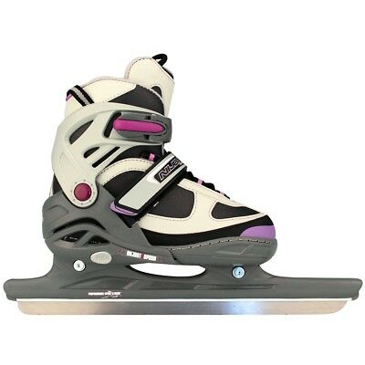 Nijdam Girls Kids Speed Ice Skates Boots Shoes Blades Size 35-38 3413-AGP-35-38