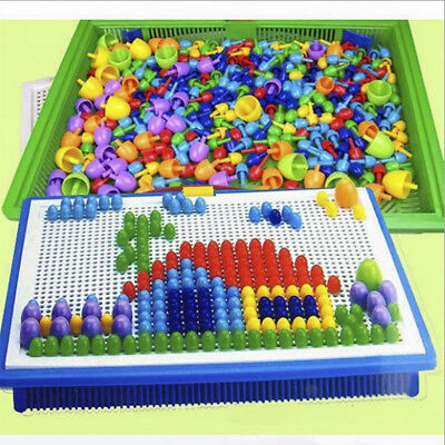 Creative Mushroom Nails Pegboard Children's Educational Jigsaw Toys Puzzle Game