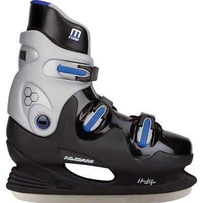 Nijdam Ice Hockey Skates Boots Shoes Unisex Blades Sharpened Size 44 0089-ZZB-44