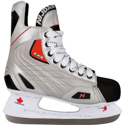 Nijdam Ice Hockey Skates Boots Shoes Unisex Blades Sharpened Size 42 3385-ZZR-42
