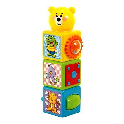 Playgo Teddy Stacking Building Blocks Baby Toddler Toy Activity Play Set 2086