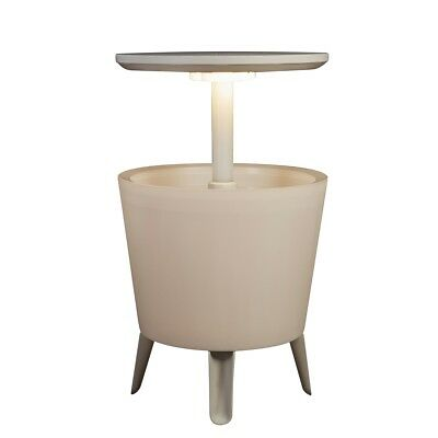 Keter Illuminated Cool Bar Coffee Table Drink Bucket Party Outdoor 17204184