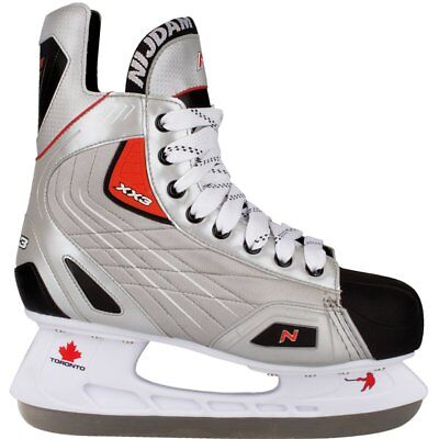 Nijdam Ice Hockey Skates Boots Shoes Unisex Blades Sharpened Size 38 3385-ZZR-38