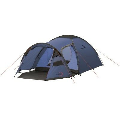 Easy Camp 3 Person Tent Outdoor Festival Camping Hiking Eclipse 300 Blue 120229