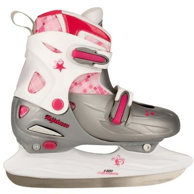 Nijdam Girl Kids Ice Figure Skates Boots with Blades Size 30-33 3020-ZWR-30-33