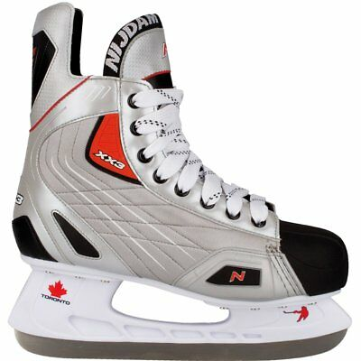 Nijdam Ice Hockey Skates Boots Shoes Unisex Blades Sharpened Size 44 3385-ZZR-44