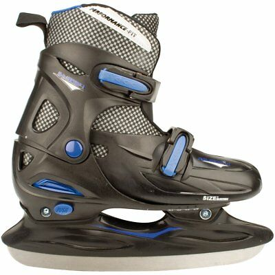 Nijdam Ice Hockey Skates Boots Shoes Unisex Blades Size 30-33 3024-ZWB-30-33