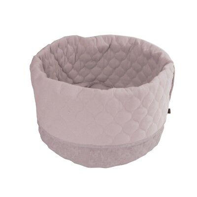Overseas Cat Kitty Bed Basket Warm Comfortable Canvas and Felt 45x40 cm Blush