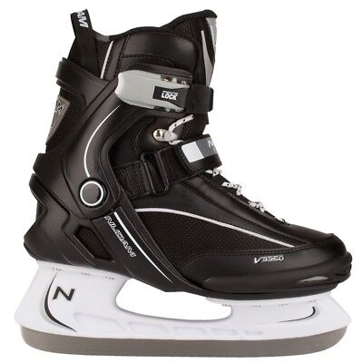 Nijdam Ice Hockey Skates Boots Shoes Unisex Blades Sharpened Size 46 3350-ZWW-46