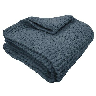 Overseas Blanket Throw Sofa Sette Bedspread Cover Knitted 130x150 cm Jeans