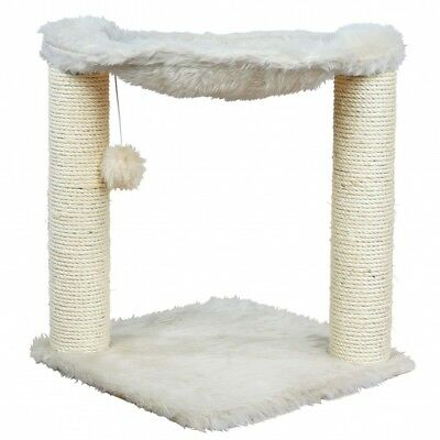 TRIXIE Wooden Scratching Post Kitten Cat Pet Toy Game Baza 50 cm Cream 44541