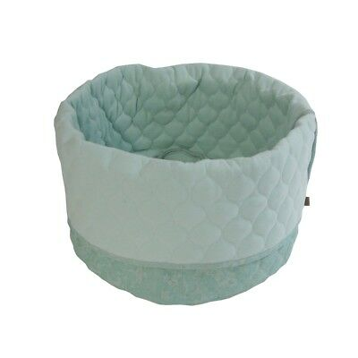 Overseas Cat Kitty Bed Basket Warm Comfortable Canvas and Felt 45x40 cm Ice