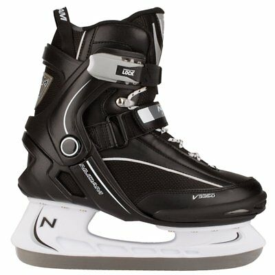 Nijdam Ice Hockey Skates Boots Shoes Unisex Blades Sharpened Size 42 3350-ZWW-42