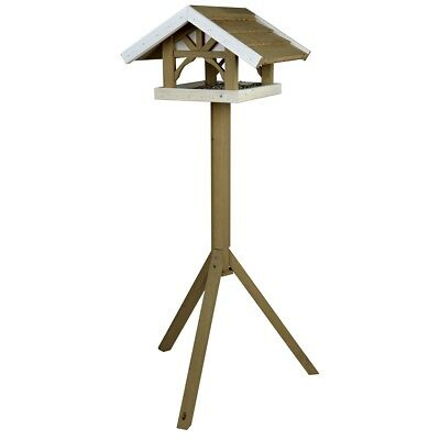 TRIXIE Standing Bird Feeder Food Roof Platform 45x28x44 cm Brown Natura 55802