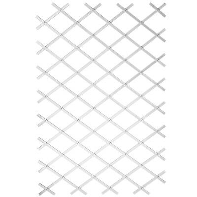 Nature Garden Trellis Expanding Fence Panel Decor 100x200 cm PVC White 6040703