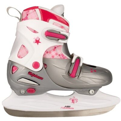 Nijdam Girl Kids Ice Figure Skates Boots with Blades Size 27-30 3020-ZWR-27-30