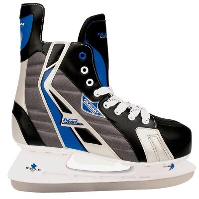 Nijdam Ice Hockey Skates Boots Shoes Unisex Blades Sharpened Size 42 3386-ZBZ-42