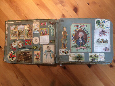 Large Victorian / Edwardian Scrapbook  - 48 double-sided pages!