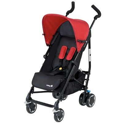 Safety 1st Buggy Baby Stroller Pushchair Travel Compa City Black + Red 12609450