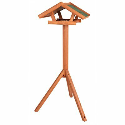 TRIXIE Standing Bird Feeder Food Tripod Stand Roof 46x22x44 cm Brown Natura 5570