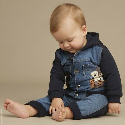 Dolce And Gabbana Baby Boys Blue Dg Family Jacket 18-24 Months