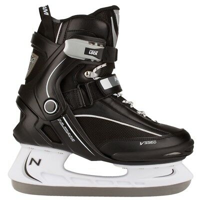 Nijdam Ice Hockey Skates Boots Shoes Unisex Blades Sharpened Size 45 3350-ZWW-45