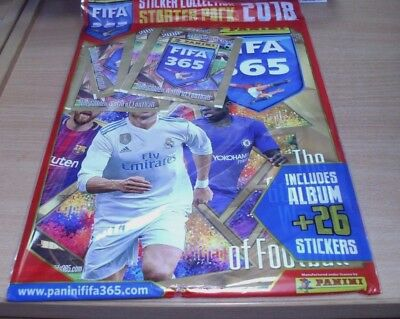 Panini Official FIFA 365 Collection 2018 Starter Pack: Album + 26 stickers