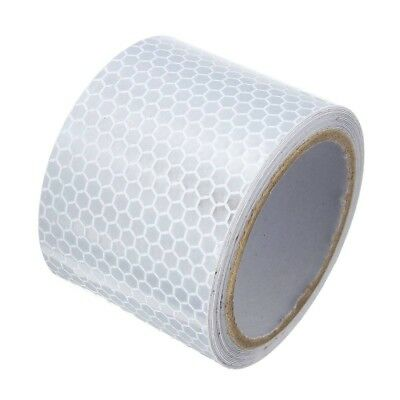 5cmX3m Silver White Reflective Safety Warning Conspicuity Tape Sticker Film F0C6