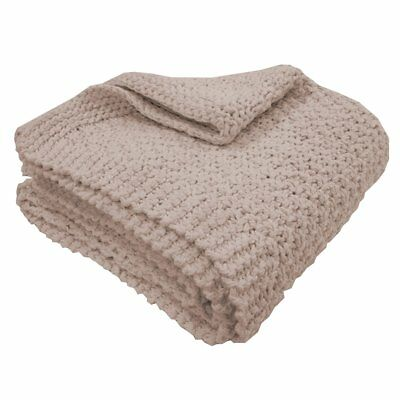 Overseas Blanket Throw Sofa Sette Bedspread Cover Knitted 130x150 cm Blush