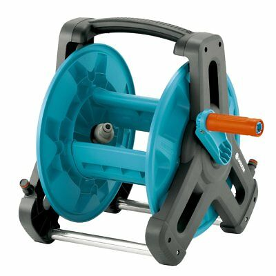 Gardena Garden Hose Reel Compact Small Lawn Watering Classic 50 Blue 8007-20