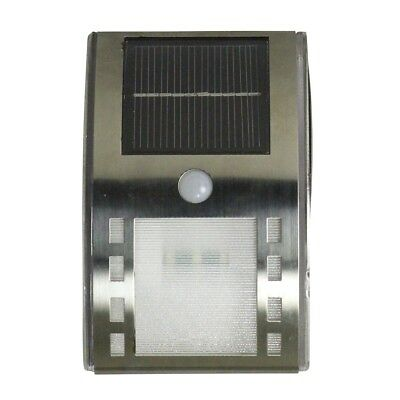 Luxform Solar LED Wall Light Lamp Outdoor Garden Augusta Silver and White 38195