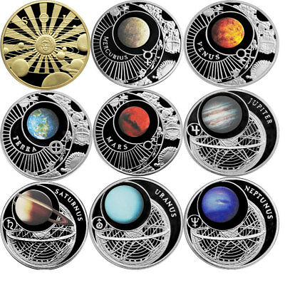 Belarus 2012 9x10 rubles The Solar System Proof Silver Set