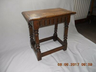Antique small carved Oak coffee table / stool.