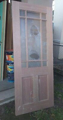 Timber front entry entrance door 2040 x 820 x 40  NO GLASS  federation style