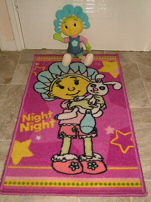 """Fifi And The Flowertots Rug Mat 50X80Cm And Talking Fifi Soft Toy 15"""" Exc Con"""