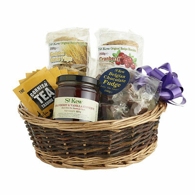 St Kew Perfect Gift Basket Food Hamper - Ideal Birthday or Christmas Gift