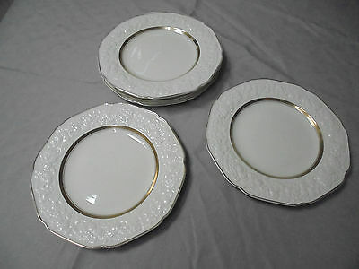 CROWN DUCAL FLORENTINE. 6 Lge Dinner Plates 25 cm diameter