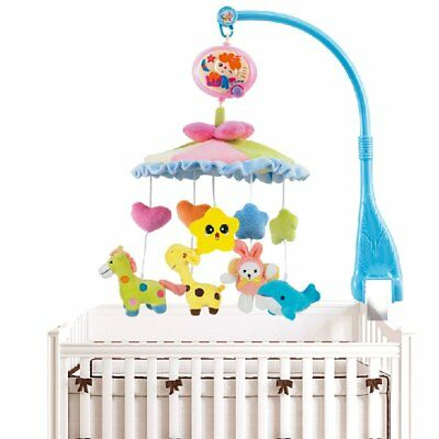 ToyJoy Baby Boy & Girl Bedding Crib Musical Mobile w/ Dolls Music Box 20 Melody