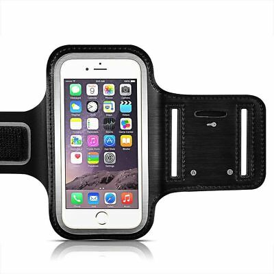 Gym Running Jogging Arm Band Sports Black Armband Case Holder Strap For iPhone 8