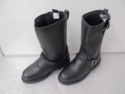 Duchinni Retro Black Custom Cruiser Motorcycle Boots Waterproof NEW