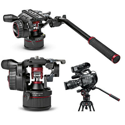 New In Box Manfrotto MVHN8AH Nitrotech N8 Fluid Video Head W/ Counterbalance Sys