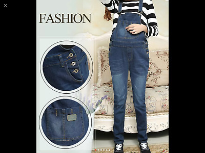 Brand New Maternity Denim Dungarees Sizes 8 10 12 14