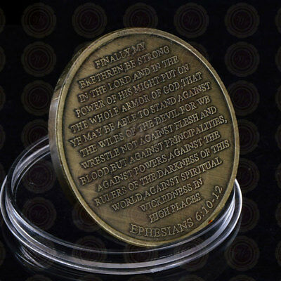 Put On The Whole Armor Of God Round Commemorative Coin Bronze Iron Collection